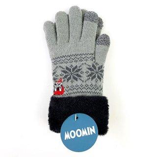 ムーミン リトルミィ スマホ対応手袋 ほおづえ あったか 手袋 スマホ グレー グッズ
