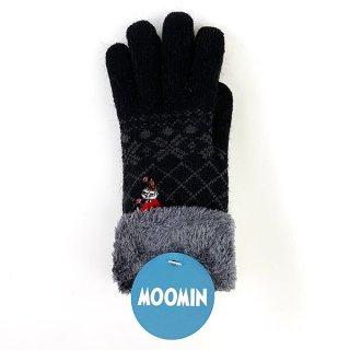 ムーミン リトルミィ スマホ対応手袋 フラワー おすわり あったか 手袋 スマホ 黒 グッズ