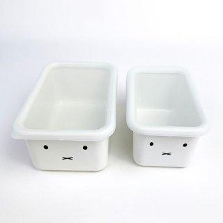 miffy ミッフィー ミッフィーフェイス 深型角容器2点セット キッチン グッズ ホワイト