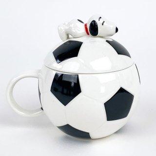 PEANUTS スヌーピー スポーツボールマグ サッカー スヌーピー マグカップ 食器 コップ グッズ ホワイト