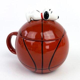 PEANUTS スヌーピー スポーツボールマグ バスケット スヌーピー マグカップ 食器 コップ グッズ オレンジ