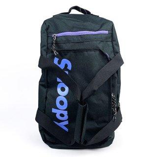 スヌーピー ボストンバッグ BK/PUロゴ スヌーピー バッグ バックパック ボストンリュック ボストン 黒 グッズ  (MCOR)