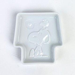 PEANUTS スヌーピー ディッププレート ウッドストック 醤油皿 豆皿 小皿 グッズ 日本製