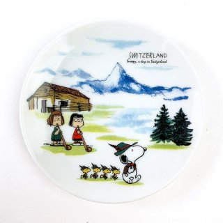 PEANUTS スヌーピー スヌーピー 豆皿 スイス 皿 食器 グッズ ホワイト