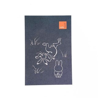 店内セール開催中!20%オフ対象商品 miffy ミッフィー 鳥獣戯画 ポストカード 灰色 カード はがき  グッズ