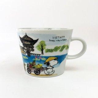PEANUTS スヌーピー スヌーピー 世界旅行マグカップ ベトナム マグ コップ 食器 陶器  ホワイト 日本製