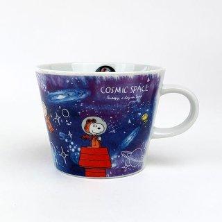 PEANUTS スヌーピー スヌーピー 世界旅行マグカップ 宇宙 マグ コップ 食器 陶器  ブルー 日本製(MCD)