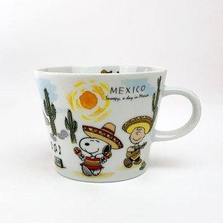 店内セール開催中!10%オフ対象商品 PEANUTS スヌーピー スヌーピー 世界旅行マグカップ メキシコ マグ コップ 食器 陶器  ホワイト 日本製