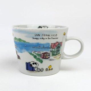 PEANUTS スヌーピー スヌーピー 世界旅行マグカップ サンフランシスコ マグ コップ 食器 陶器  ホワイト 日本製