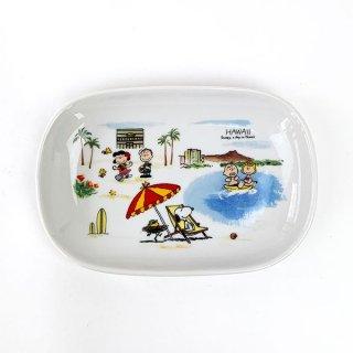 店内セール開催中!10%オフ対象商品 PEANUTS スヌーピー スヌーピー 世界旅行楕円プレート ハワイ お皿 食器 プレート ホワイト 日本製