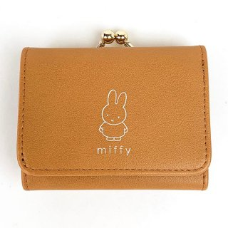 <img class='new_mark_img1' src='https://img.shop-pro.jp/img/new/icons15.gif' style='border:none;display:inline;margin:0px;padding:0px;width:auto;' />ミッフィー miffy ワンポイントシリーズ コンパクト財布 通勤 通学 コンパクト 財布 コインケース 小銭入れ ブラウン グッズ (MCOR)