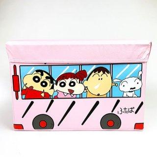 店内セール開催中!20%オフ対象商品 クレヨンしんちゃん ストレージBOX バスクレヨン しんちゃん おもちゃ箱 小物入れ BOX 箱  ピンク グッズ