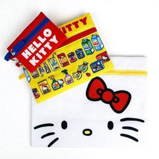 サンリオ キティ サンリオキャラクターズ 3連ポーチ ハローキティ ポーチ 3連 ケース パスケース バッグ 財布 ホワイト グッズ