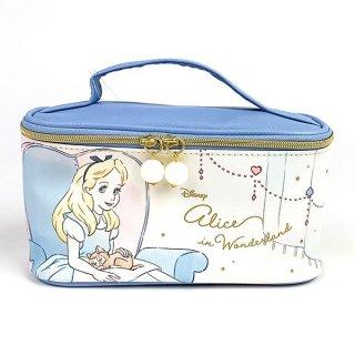 Disney プリンセス ディズニー バニティポーチ アリス Girls Room ポーチ 立体 コスメ メイク ブルー グッズ (MCOR)