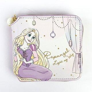 Disney プリンセス ディズニー スクエアウォレット ラプンツェル Girls Room 財布 ウォレット 四角 コンパクト (MCOR)