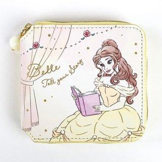 Disney プリンセス ディズニー スクエアウォレット ベル Girls Room 財布 ウォレット 四角 コンパクト イエロー  (MCOR)
