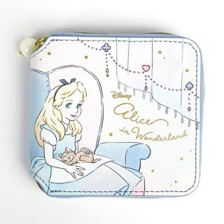 Disney プリンセス ディズニー スクエアウォレット アリス Girls Room カードケース 財布 コンパクト ブルー グッズ