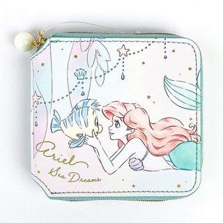 Disney プリンセス ディズニー スクエアウォレット アリエル Girls Room 財布 コンパクト 四角 グリーン  (MCOR)
