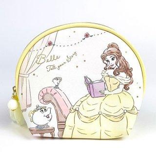 Disney プリンセス ディズニー シェルポーチ ベル Girls Room ケース 小型 ミニ 円形 イエロー グッズ  (MCOR)