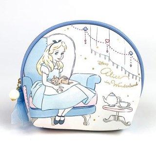 Disney プリンセス ディズニー シェルポーチ アリス Girls Room ケース 小型 ミニ 円形 ブルー グッズ  (MCOR)
