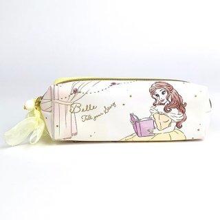 Disney プリンセス ディズニー Wファスナーポーチ ベル Girls Room ケース ポーチ ペンケース 文房具 イエロー グッズ
