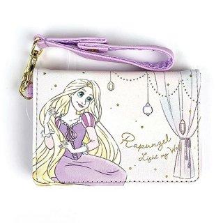 Disney プリンセス ディズニー 2つ折りパスケース ラプンツェル Girls Room カードケース パープル グッズ  (MCOR)
