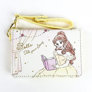 Disney プリンセス ディズニー 2つ折りパスケース ベル Girls Room カードケース 通勤 通学 イエロー グッズ  (MCOR)