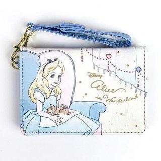 Disney プリンセス ディズニー 2つ折りパスケース アリス Girls Room カードケース 通勤 通学 ブルー グッズ (MCOR)