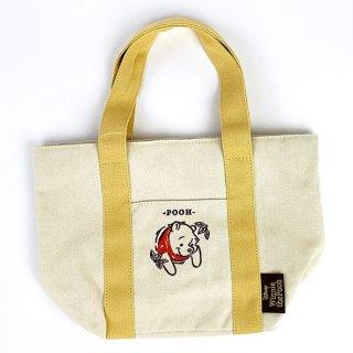店内セール開催中!30%オフ対象商品 ディズニー プー Winnie The POOH Pooh Series ミニトートバッグ バッグ 巾着 刺繍 イエロー グッズ