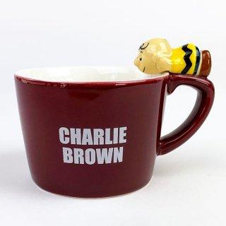 PEANUTS チャーリー・ブラウン フィギュア付きマグカップ チャーリー・ブラウン マグ コップ グッズ 陶器 レッド