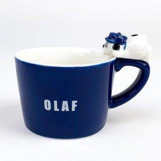 店内セール開催中!10%オフ対象商品 PEANUTS スヌーピー オラフ フィギュア付きマグカップ オラフ マグ コップ グッズ 陶器 ブルー
