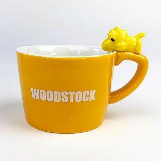 PEANUTS スヌーピー ウッドストック フィギュア付きマグカップ ウッドストック マグ コップ グッズ 陶器 イエロー