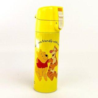 店内セール開催中!20%オフ対象商品 ディズニー プー ティガー ロック付き プチステンレスマグボトル 食器 キッチン 水筒 ランチ ボトル ワンプッシュ Disney