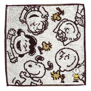 PEANUTS スヌーピー SNOOPY 刺繍ミニタオル サークルフレンズ チャーリー・ブラウン タオル フレンド  ホワイト グッズ