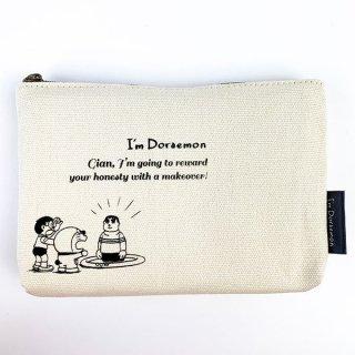 I'm Doraemon ドラえもん 3ポケットキャンバスポーチ きこりの泉  コスメポーチ マルチポーチ クリーム グッズ