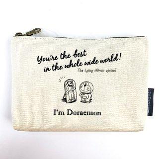 I'm Doraemon ドラえもん 3ポケットキャンバスポーチ うそつき鏡 コスメポーチ マルチポーチ 化粧ポーチ クリーム