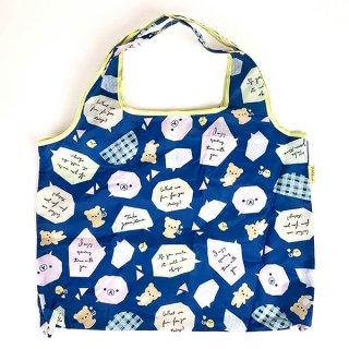 San-X リラックマ エコバッグ ふきだし リラックマスタイル バッグ お買い物袋 ブルー グッズ