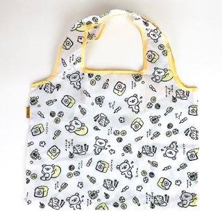 San-X リラックマ エコバッグ お気に入り リラックマスタイル バッグ お買い物袋 ホワイト グッズ
