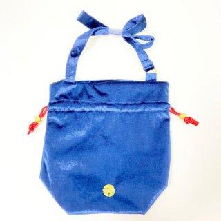 ドラえもん 巾着バッグ HIMITSU DOUGU  ベロア雑貨シリーズ  ネイビー グッズ