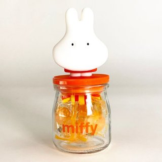 MIFFY ミッフィー miffy キャンディーボトル ミッフィーおばけ お菓子入れ キッチン ボトル 容器 飴 キャンディ オレンジ グッズ