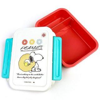 スヌーピー LUNCH SERIES DOUGHNUT LIFE LUNCH BOX 弁当箱 ランチボックス お弁当 レッド