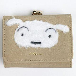 クレヨンしんちゃん シロ もこもこシロ コンパクト財布 コンパクト コインケース ポーチ ケース 小物入れ ホワイト