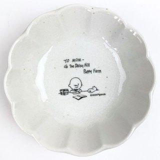 店内セール開催中!10%オフ対象商品 PEANUTS スヌーピー 輪花型 皿  食器 お皿 取り皿 ホワイト グッズ 日本製