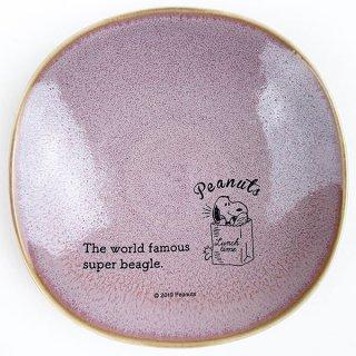 店内セール開催中!10%オフ対象商品 PEANUTS スヌーピー 小皿 ランチタイム PU お皿 取り皿 食器 パープル グッズ 日本製