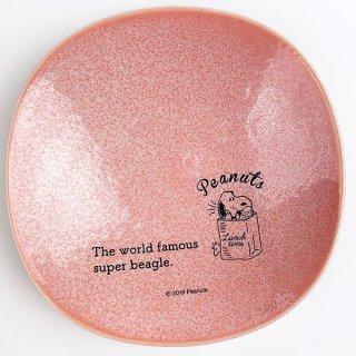 店内セール開催中!10%オフ対象商品 PEANUTS スヌーピー 小皿 ランチタイム PK お皿 取り皿 食器 ピンク グッズ 日本製