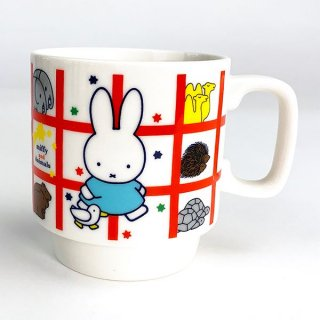 <img class='new_mark_img1' src='https://img.shop-pro.jp/img/new/icons15.gif' style='border:none;display:inline;margin:0px;padding:0px;width:auto;' />MIFFY ミッフィー mify and Animals シリーズ スタックマグ 白 食器 キッチン コップ カップ マグカップ ホワイト