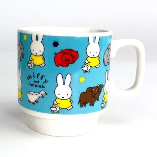<img class='new_mark_img1' src='https://img.shop-pro.jp/img/new/icons15.gif' style='border:none;display:inline;margin:0px;padding:0px;width:auto;' />MIFFY ミッフィー mify and Animals シリーズ スタックマグ 青 食器 キッチン コップ カップ マグカップ ブルー