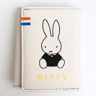 MIFFY ミッフィー miffy ワレットシリーズ 三つ折りワレット ポーチ ケース 小物入れ ウォレット 財布 三つ折り ホワイト