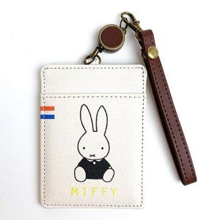 MIFFY ミッフィー miffy ワレットシリーズ リール付きパスケース ポーチ ケース 小物入れ ウォレット 財布 ホワイト