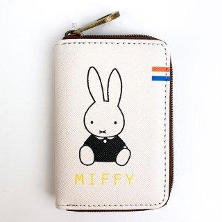 MIFFY ミッフィー miffy ワレットシリーズ ラウンドコインケース ポーチ 小物入れ ウォレット 財布 コインケース ホワイト